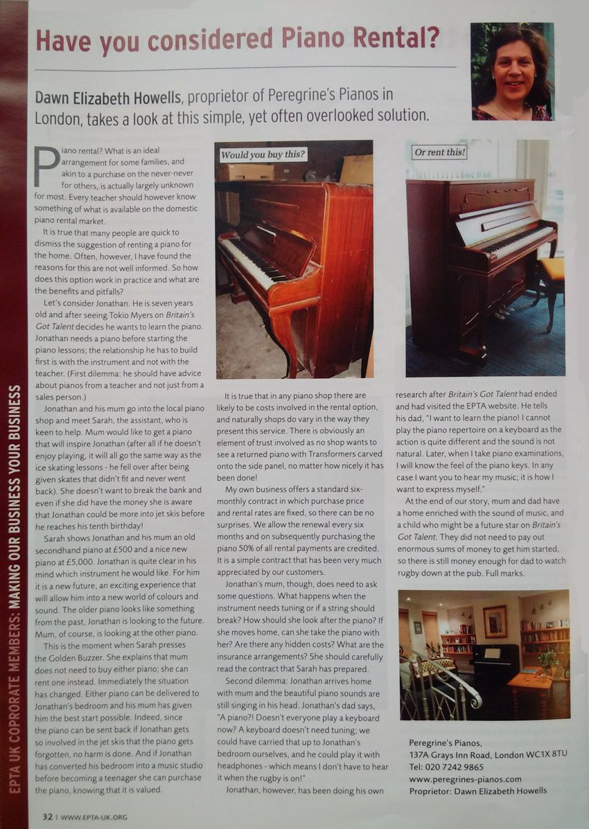 Have you considered Piano Rental?