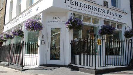 Peregrine's Pianos shopfront