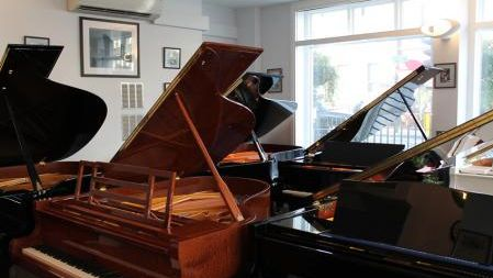 Peregrine's Pianos showroom