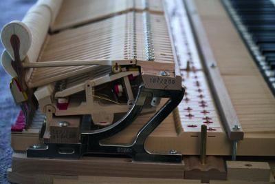 Schimmel grand piano action