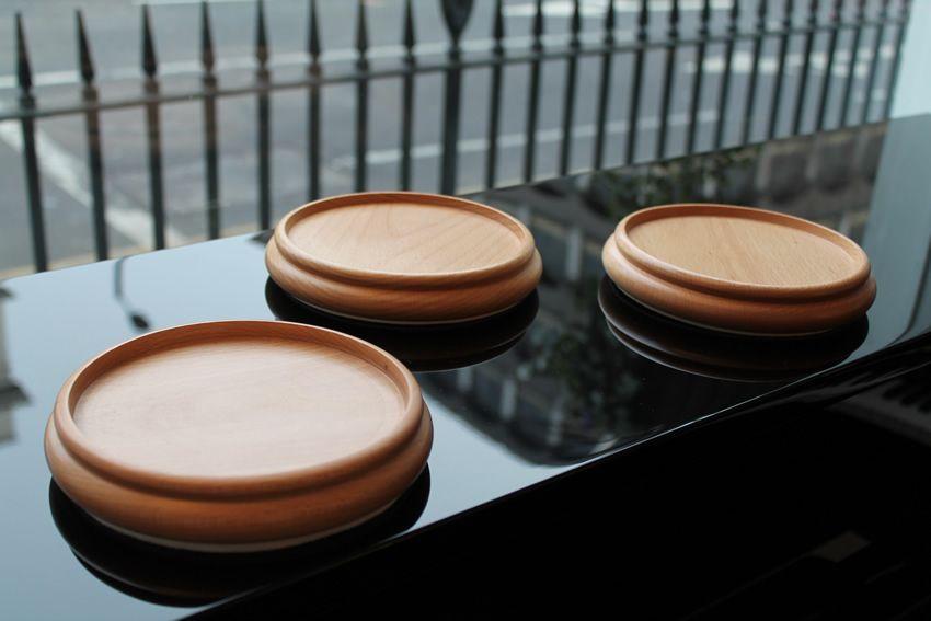 Large beech wood castor cups